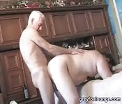 Dirty old man fucking his fat lover