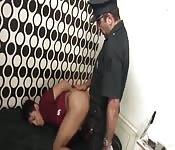 Cop banged prisonal hard