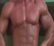 Gay muscular tease