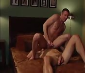 Kinky dude sitting on his raunchy lover's face