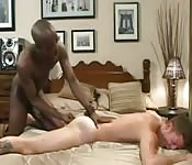 Naughty black guy finger fucking his white lover
