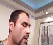 Handsome guy fucked by a big cock