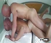 A pic of bald men having sex