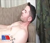 Super handsome airman jerks off