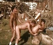 Three farm boys in amazing anal fuck