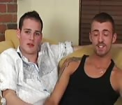Gay couple fucking on the couch