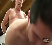Daddy and twink in amazing anal fucking