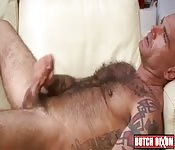 Mature tattoo gay masturbate