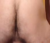 Un culo apretado y peludo