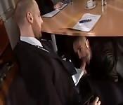 Business meeting blowjob