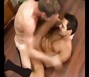 Hunky gay man getting fucked in his tight ass