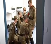 Soldiers in the barracks