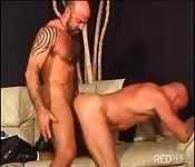 Two super-dirty macho men