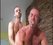 Two muscular vintage daddies in special connection