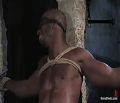 Big black guy fucked and tortured