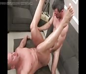 Gay dude gets sucked and fucked