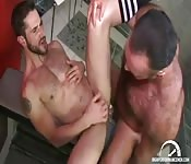 Locker room lovemaking and foot worship