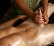Crazy masseur massage dick