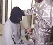 Fucking a masked man