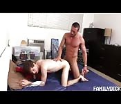 Son wakes to find Dad jerking off