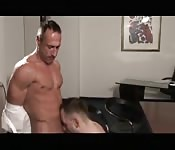 Sexy mature stud enjoying great oral sex