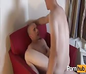 Two hot white cocks in action