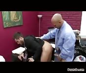 Gay sex in the office