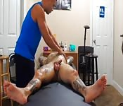 Having his cock massaged really good