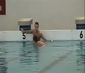 After swim practice