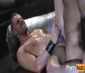 Dishy oiled-up hunk getting nailed in the ass