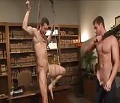 Sexy Sklave wird gefesselt