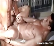 The most perfect bottom dude fucked so hard in the ass