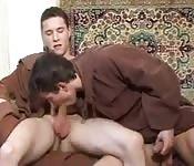 Sucking his sexy cock