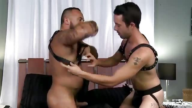 Large long member being sucked off