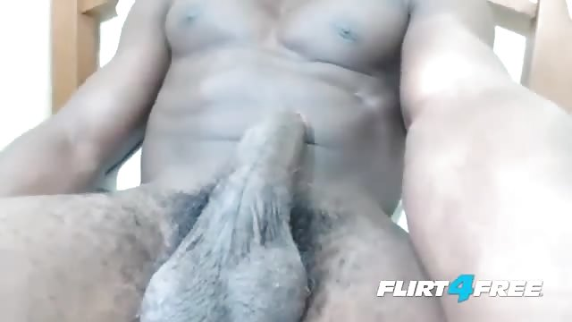 Muscle guy jerks off three
