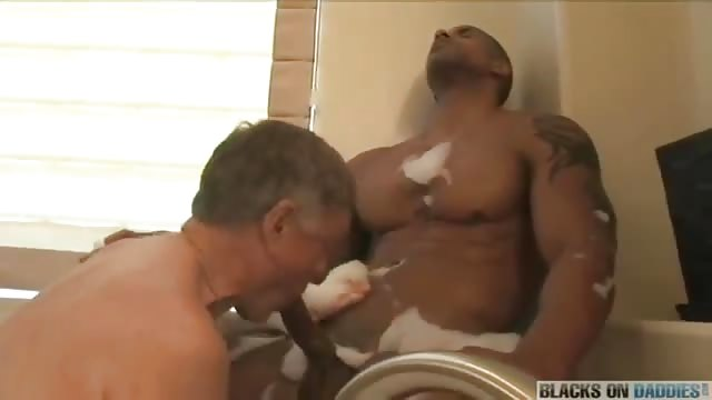 White Daddy Likes Black Dick All For Him