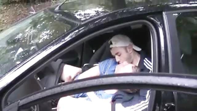 Roadside blowjob