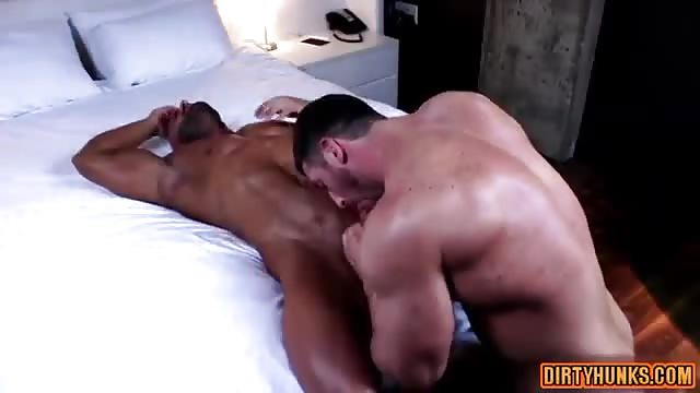 Body builders deep and passionate anal sex