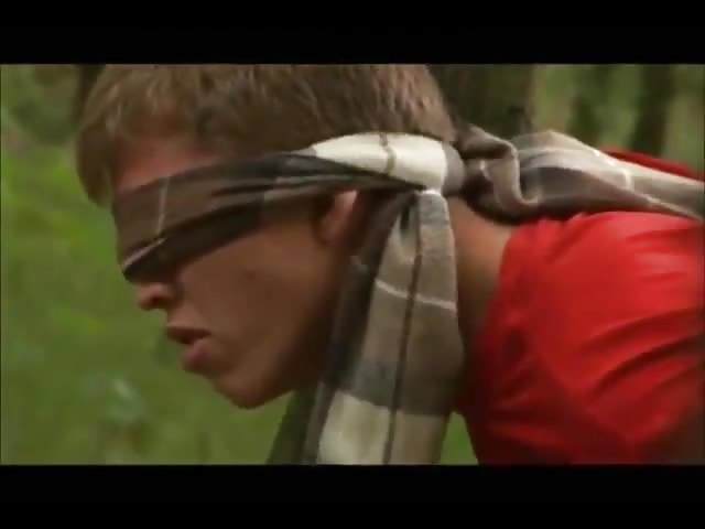 Blindfolded and jock pounded into him
