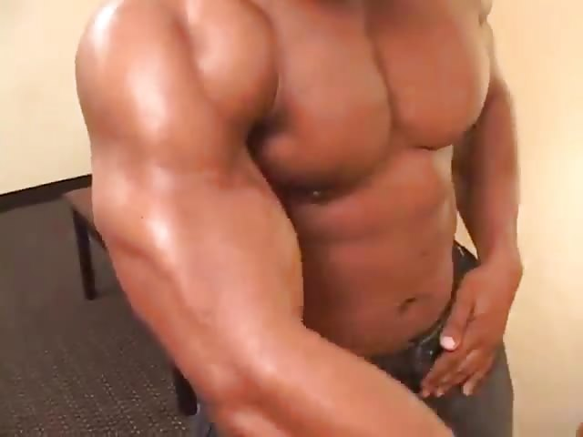 Sexy black hunks masturbating