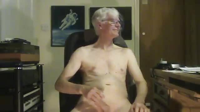 old man playing with his penis