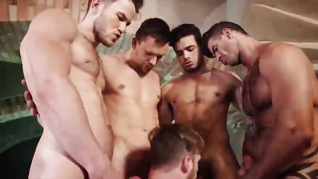 Schwulen Orgie