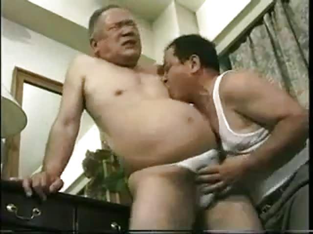 Kinky old Asian guy enjoying a great handjob