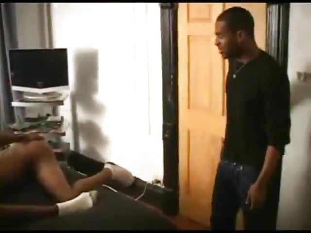 Hot black gay threesome