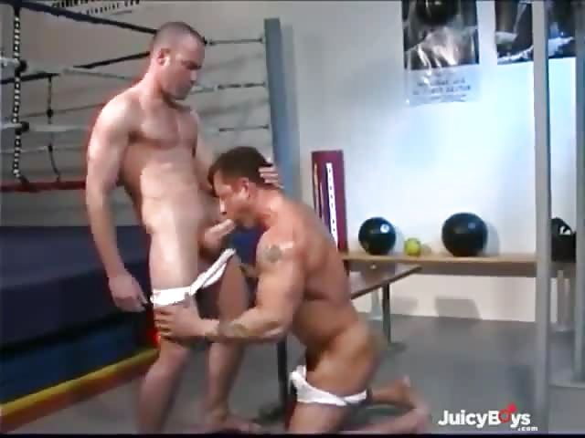 Hot gay trio fucking in the ring