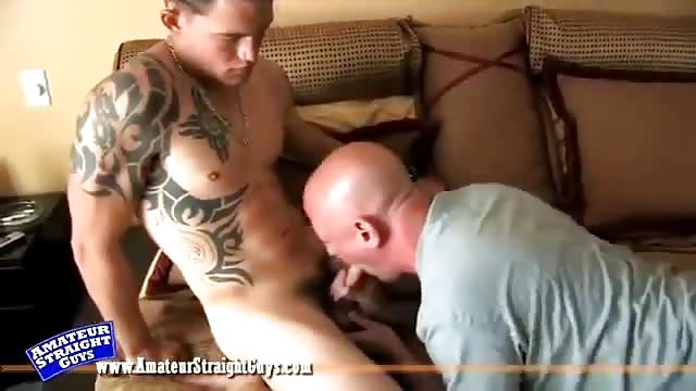 British muscled tattood hunk double penetrated