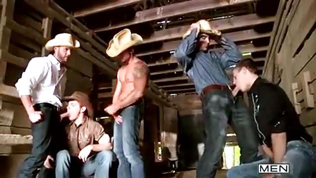 cowboy orgia otthoni videócső pornó