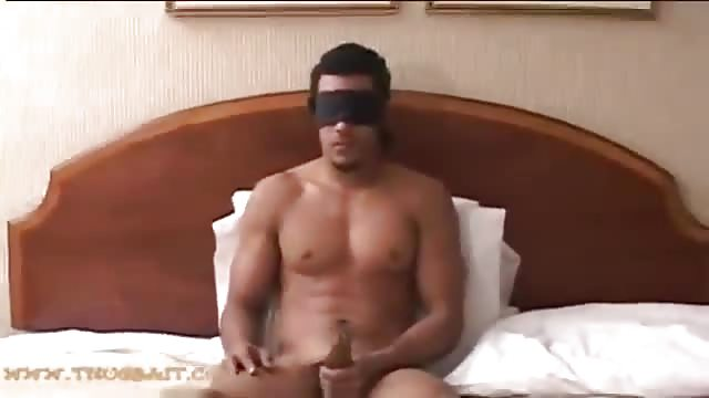 Blindfolded Guy Gets His Dick Jerked