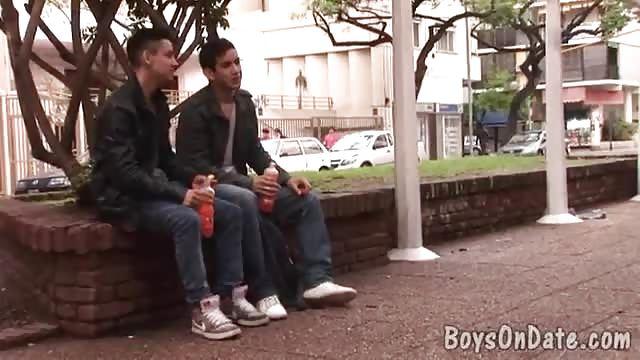 Smoking boys enjoy blowjob