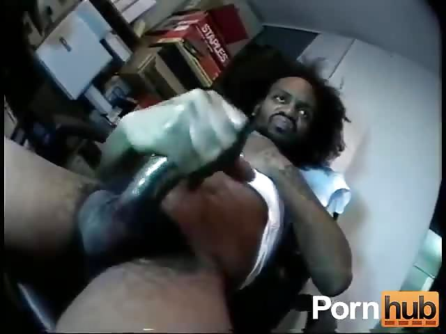 Two black thugs masturbate
